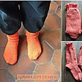 Chaussettes orange