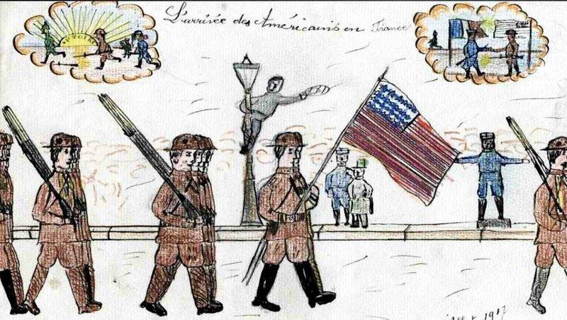 Dessin enfants arrivée des US