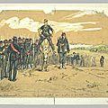 Régamey, halte de soldats et officier à cheval (défense de Paris) dessin