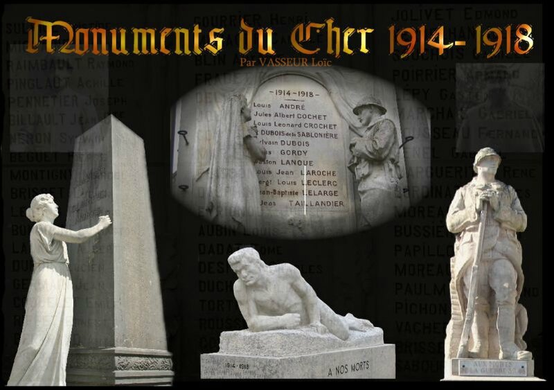 site Monuments du Cher 1914-1918