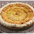 Tarte aux pommes sur caramel au beurre salé parfumé à l'orange