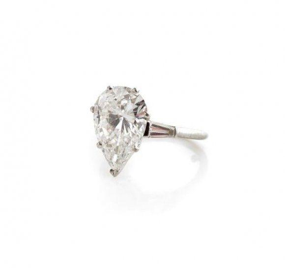 bague diamant poire boucheron