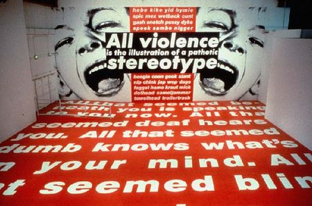 BarbaraKruger_All_Violence_is_an_Illustration_of_a_Pathetic_Stereotype_1991