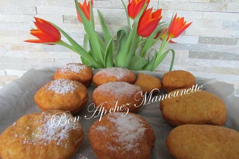 beignets farine et polenta à la pomme du verger 023