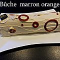 Buche marron orange
