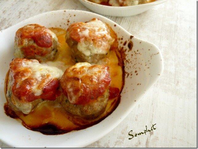 Boulettes basilic parmesan