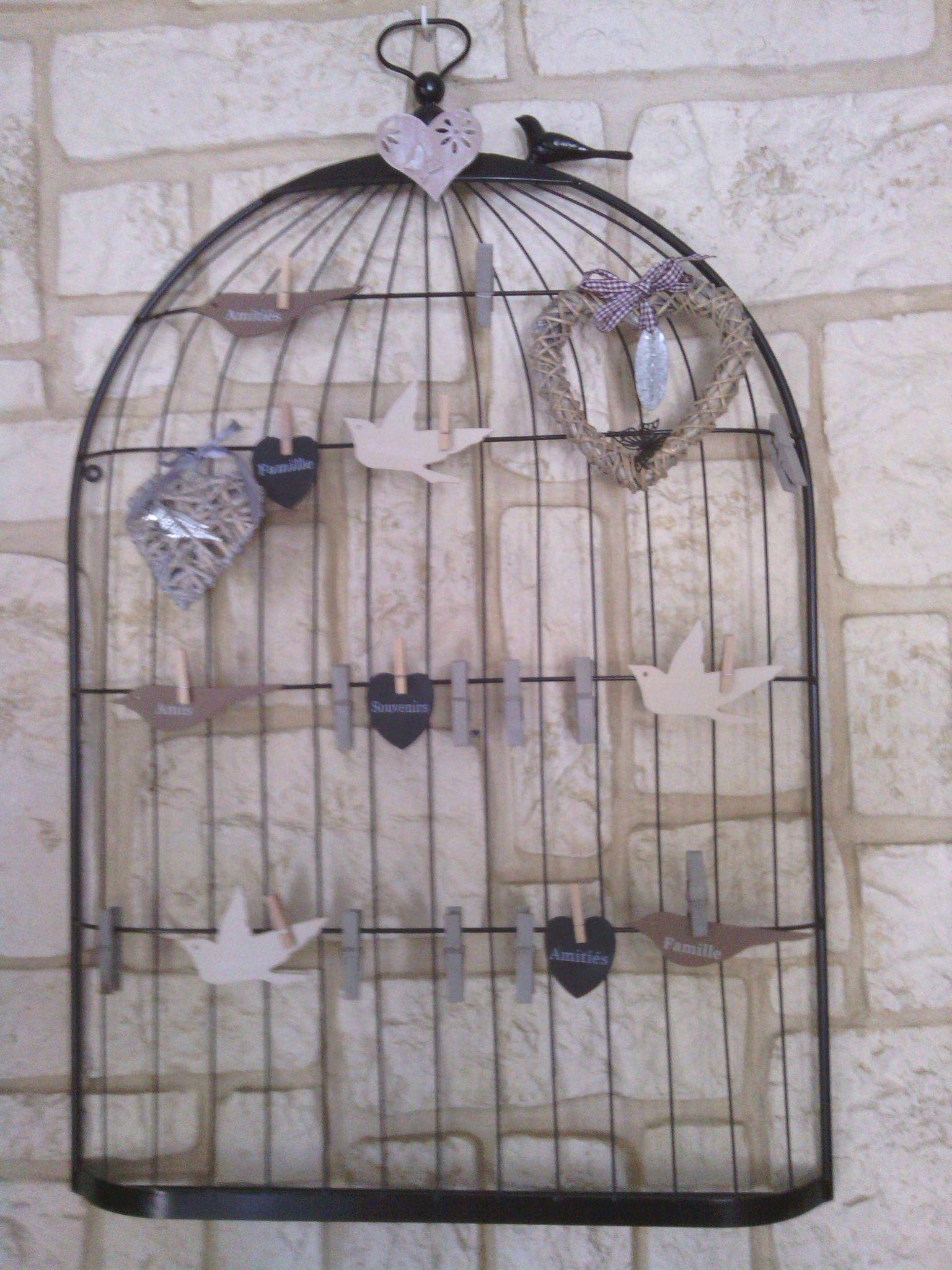 D co cage oiseaux les crea 39 s de nadia for Deco cage a oiseaux