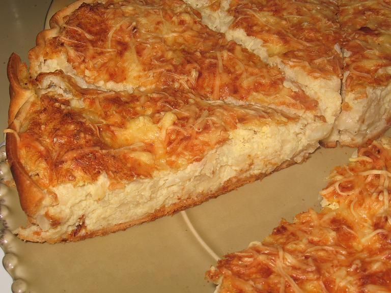 tarte soufflée au chou-fleur - célia en cuisine