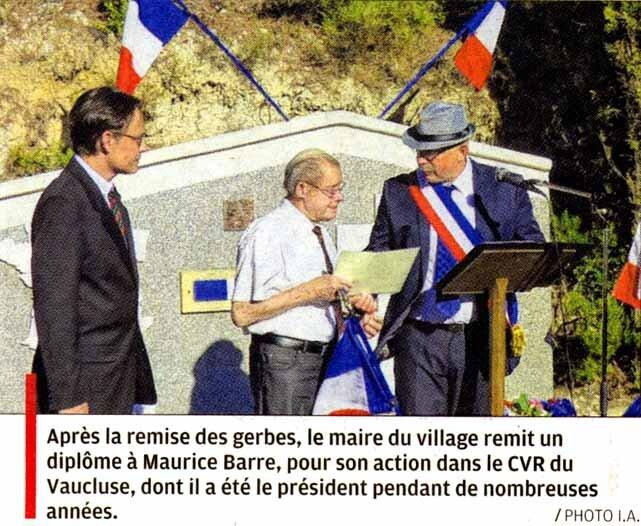 Article de la Provence du 26 août 2015