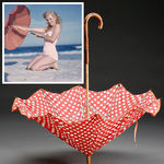 1949_tobey_beach_by_dedienes_umbrella_red_1a