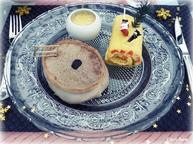 Tournedos aux truffes et buchette d'omelette