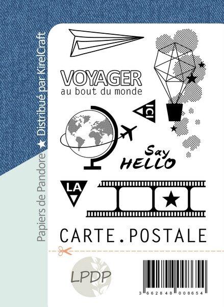 packaging tampons carte postale