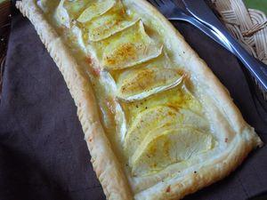 tarte fine pommes camenbert curry (3)