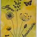 Carte anniversaire Drop 2009