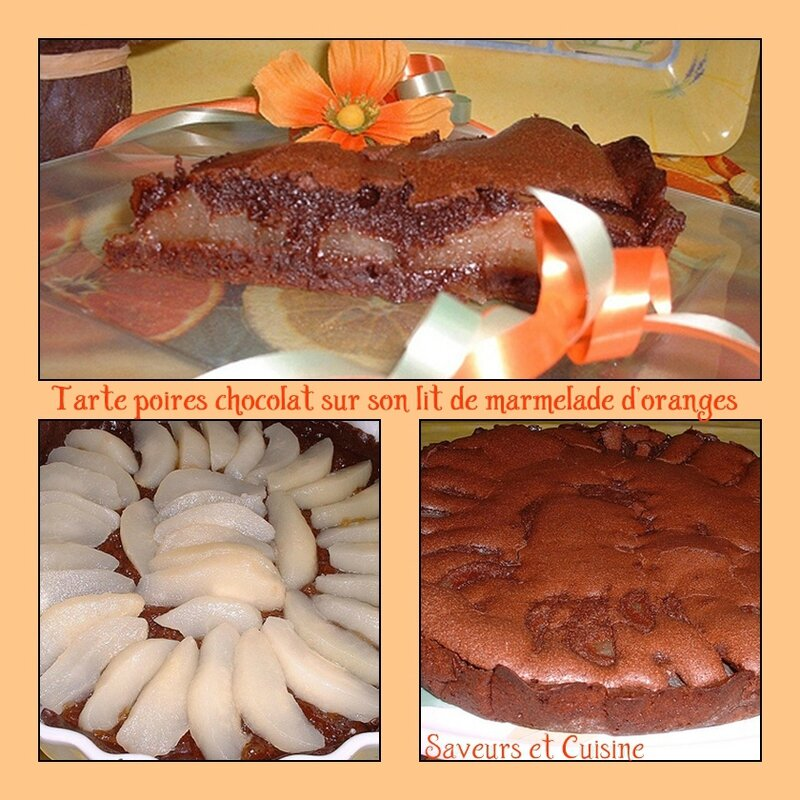 Tarte poires chocolat