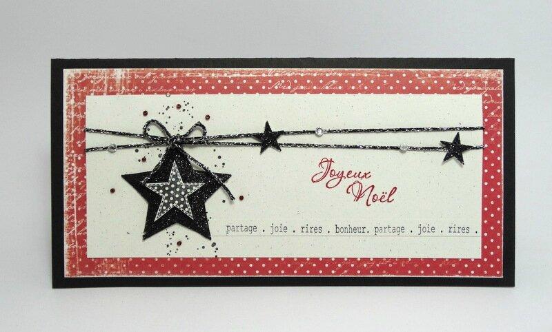 Carte Pochette étoiles rouge 1