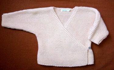 Cache coeur tricot brillant, 1 mois