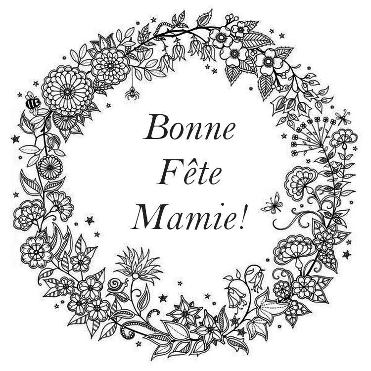 Coloriage bonne f te mamie dimanche 06 mars 2016 - Coloriage bonne fete mamie ...