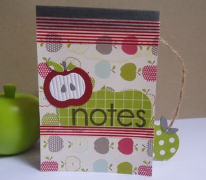 carnet notes pommes Sabrina