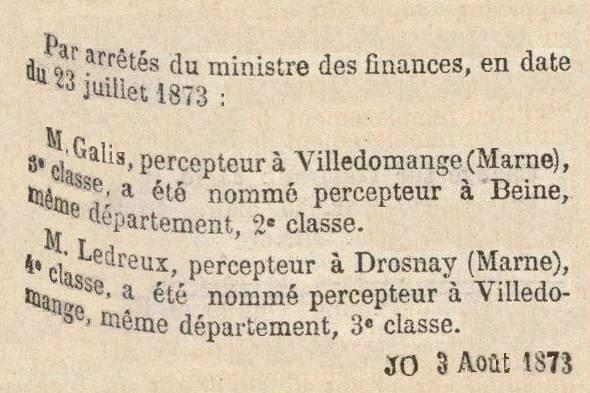 1873 PERCEPTEURS