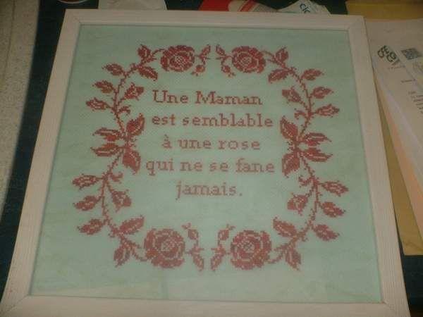 ''Maman'' brodé par Laetitia