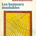 Les humeurs insolubles, de paolo giordano