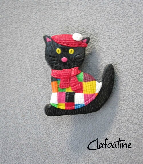 Broche chat frileux