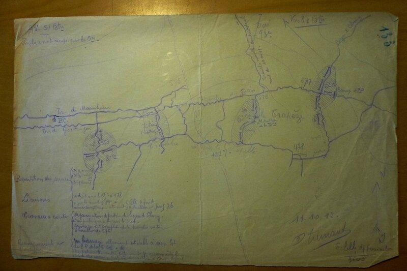 11 oct 1915 zone du Trapèze