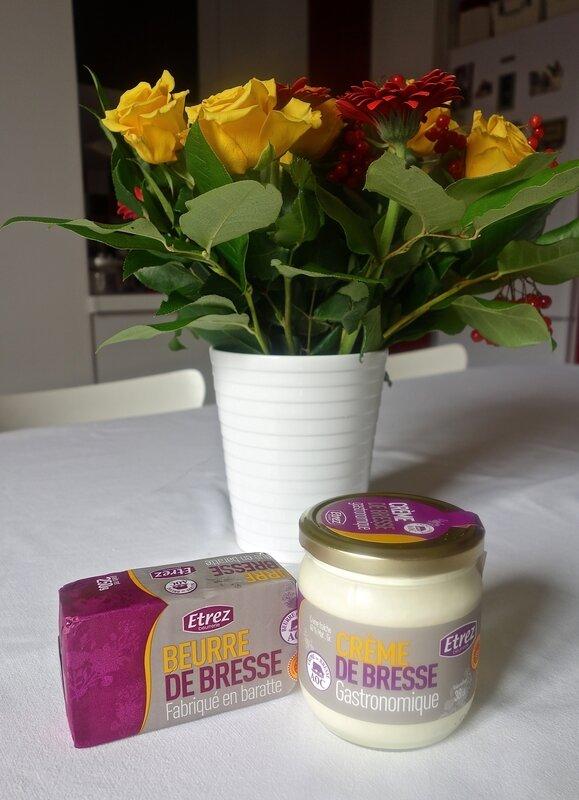 crème et beurre de Bresse