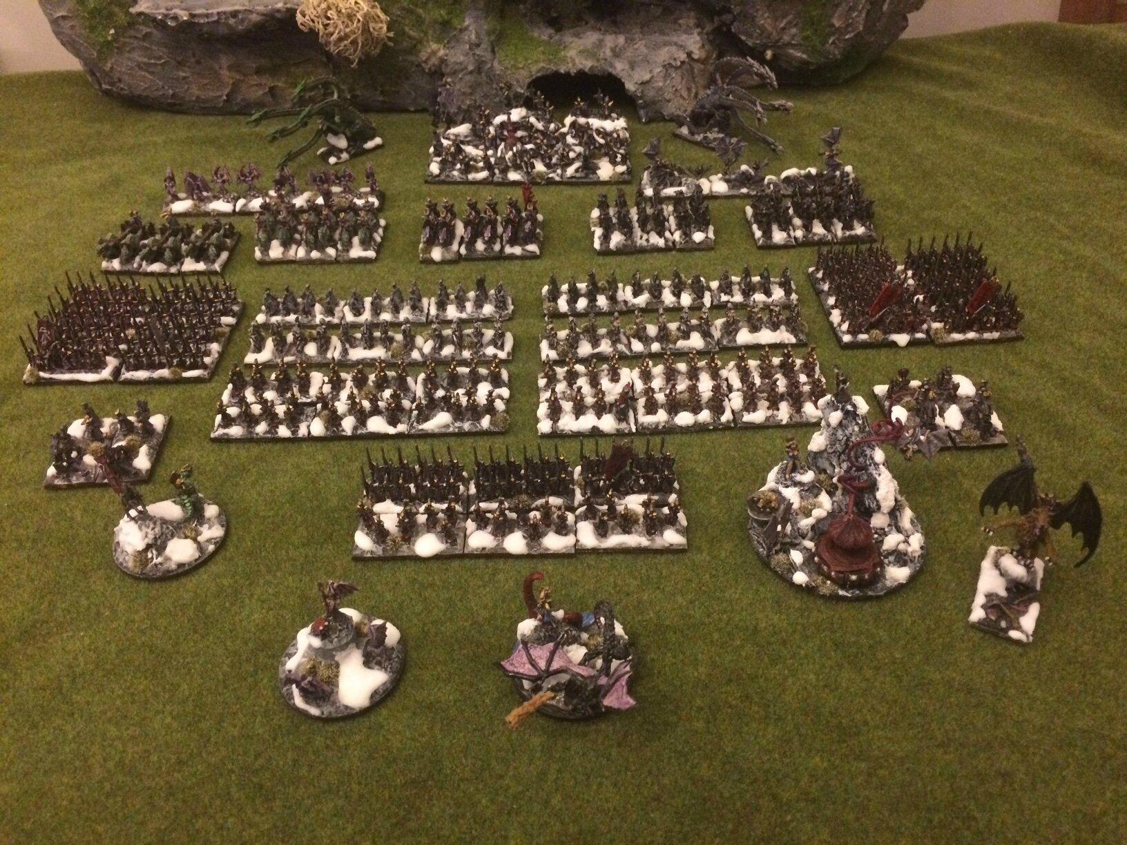Warmaster Elfes noirs Armée complète