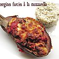 Aubergines farcies  la mozarella