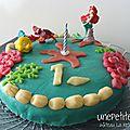 Gâteau la petite sirène