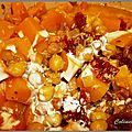 Mijoté de butternut aux pois chiches épices et abricots secs