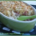 Gratin de croes roquefort-bacon