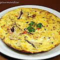 Frittata de poulet aux cpes
