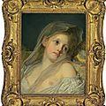Jean-baptiste greuze (tournus 1725-1805 paris) la rêveuse (the dreamer)