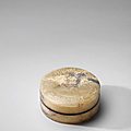 A very rare grey jade circular box and cover, han dynasty (206 bce-220 ce)