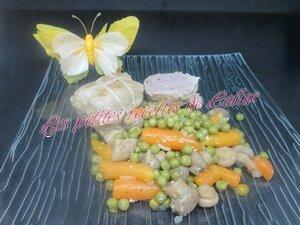 Paupiette de porc aux petits pois carottes33