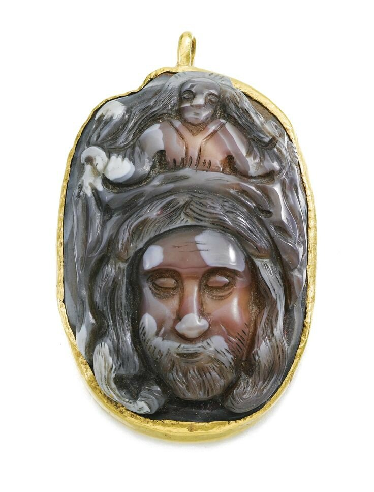Netherlandish, late 15th century, Pendant with a cameo of St. Veronica