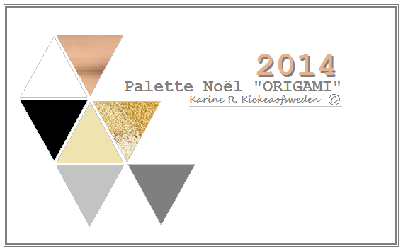 palette noêl2014 origami