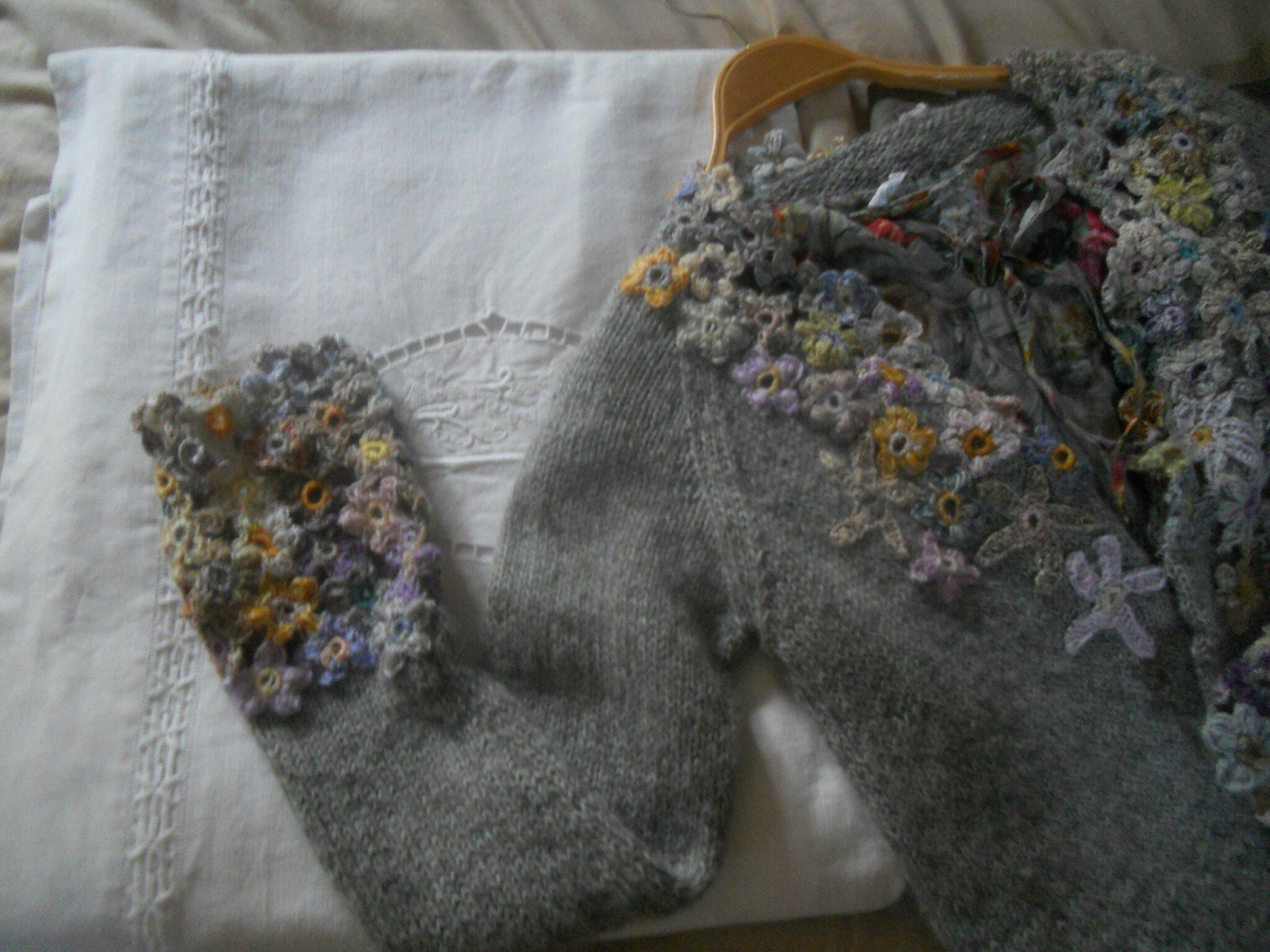 gilet fleurs