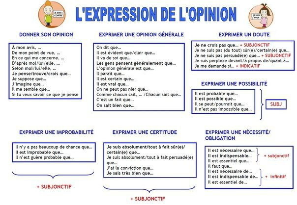 expression de lopinion