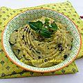 Purée aux courgettes rôties, basilic et parmesan