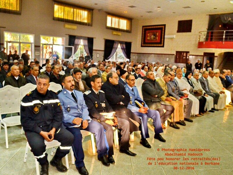 Fête pour honorer des retraités(ées) de l'éducation nationale à Berkane 30-12-2016 (9)