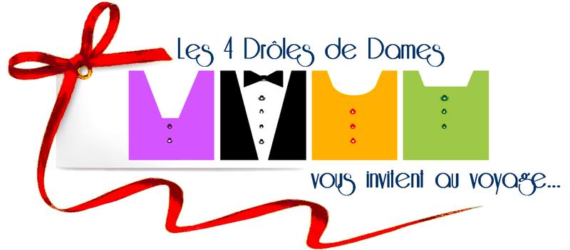 4 DROLES DE DAMES_ carton d'invitation_blog artistes freelances_ouverture officielle_création Dame la Lune