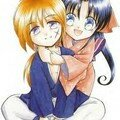 chibi kenshin & kaoru