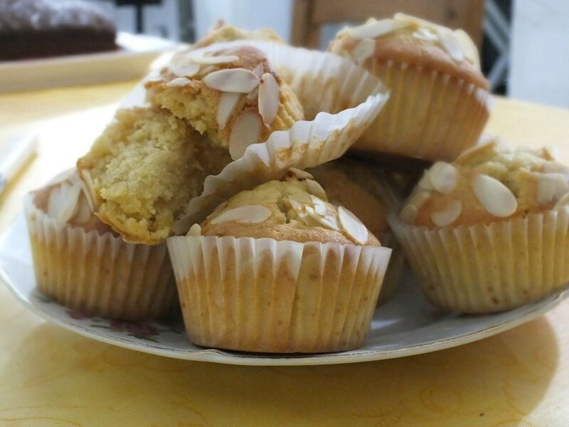 muffins aux mûres blanches