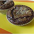 Brownies chocolat noir noix de coco et pépites de chocolats blanc et lait