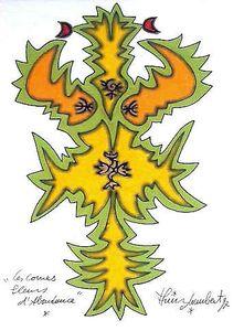 LAMBERT Les cornes fleurs d'abondance 1997 28,4 x 20,9