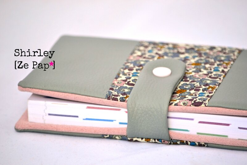 agenda 2014 simili cuir gris et Liberty rose